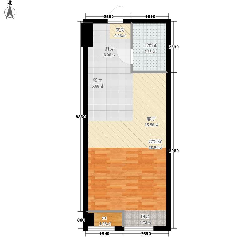 鸿泰π公寓户型