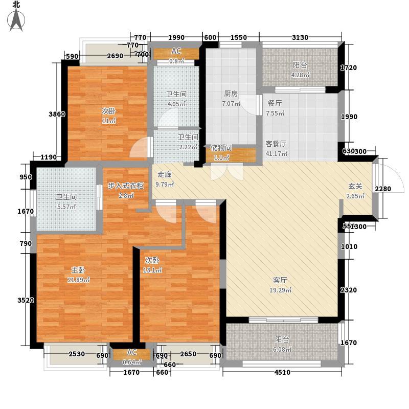 绿地中心133.00㎡B1户型3室2厅
