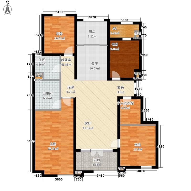 翡翠城163.00㎡D1-D2户型2室2厅