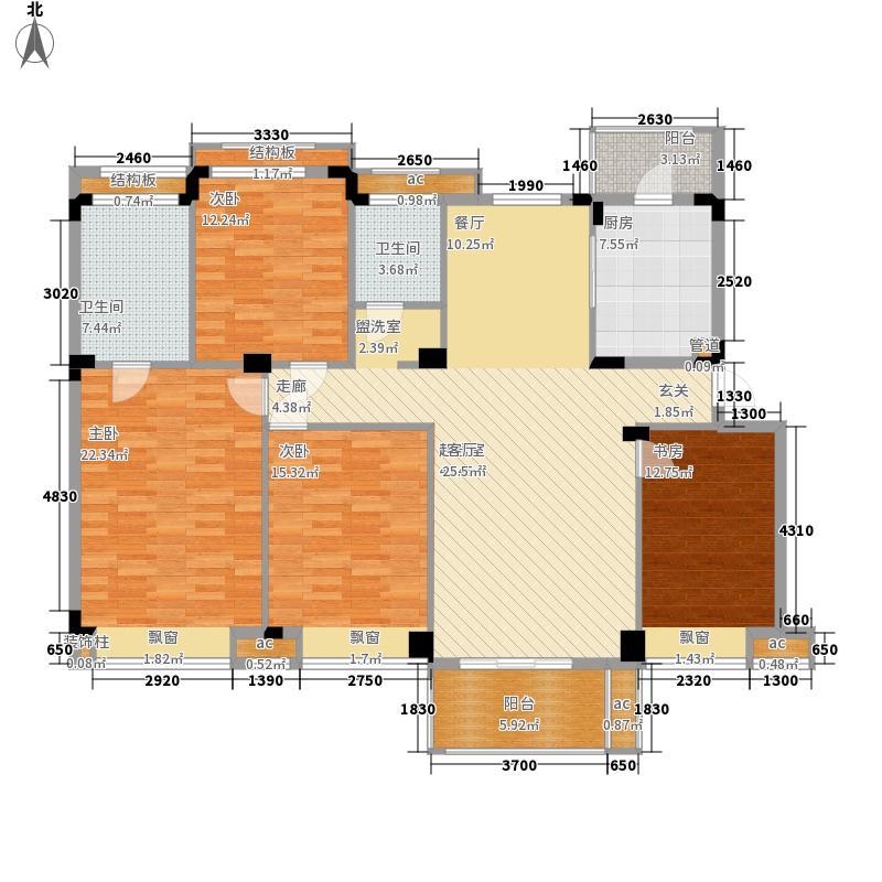 卓越·蔚蓝群岛156.00㎡莫尔堡城户型3室2厅