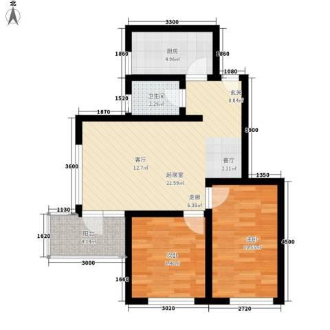 康桥月苑2室0厅1卫1厨95.00㎡户型图
