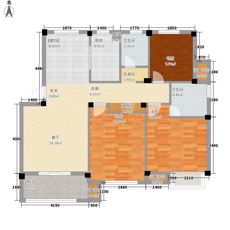 银亿新世界106.00㎡户型3室2厅