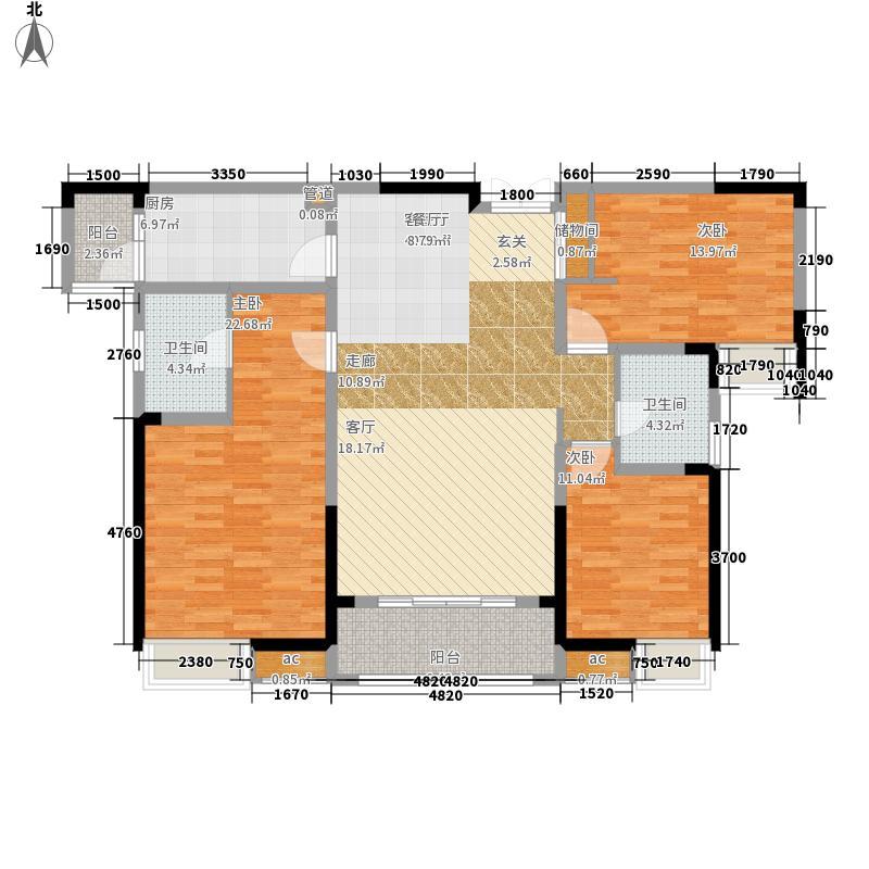 星联湾131.00㎡户型3室2厅