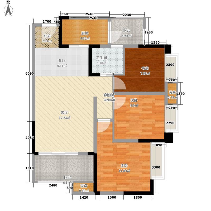 紫御江山79.00㎡御湾高层1、2、7号楼标准层C户型