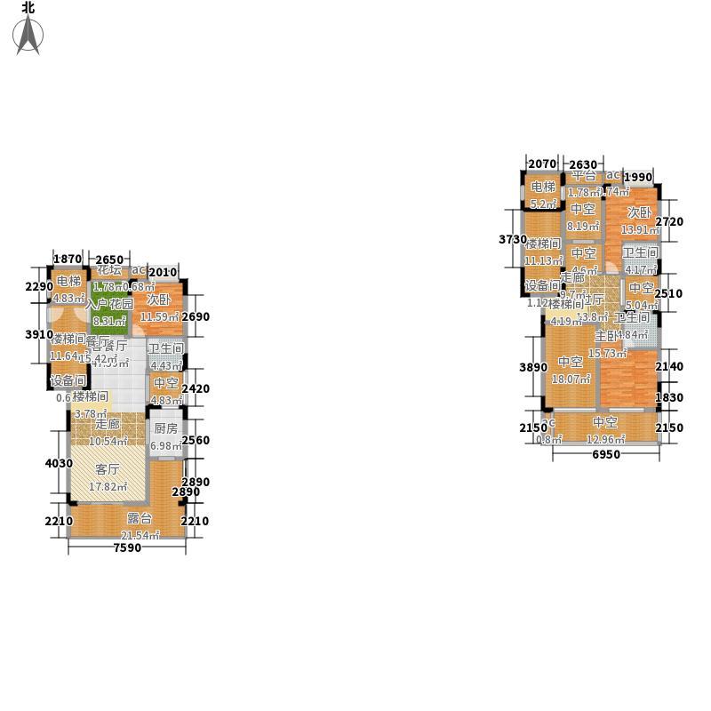 东方熙龙山院192.00㎡G1户型3室2厅