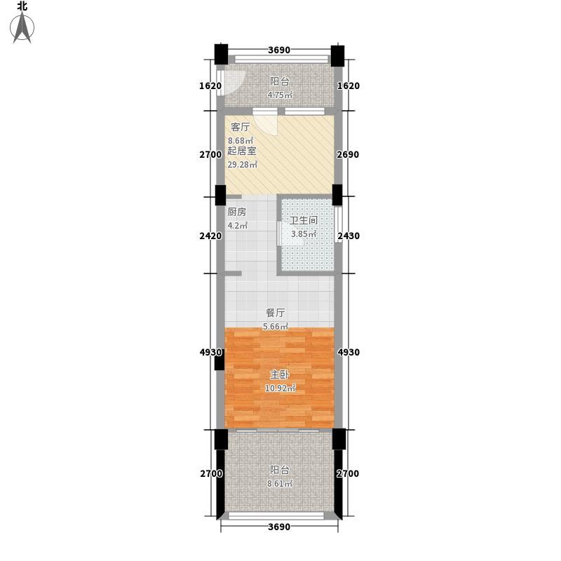 洱海传奇海景假日公寓A类1阳台户型1室2厅