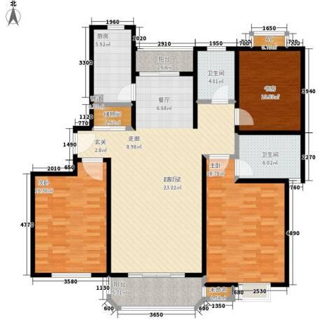 金沙嘉苑3室0厅2卫1厨130.00㎡户型图