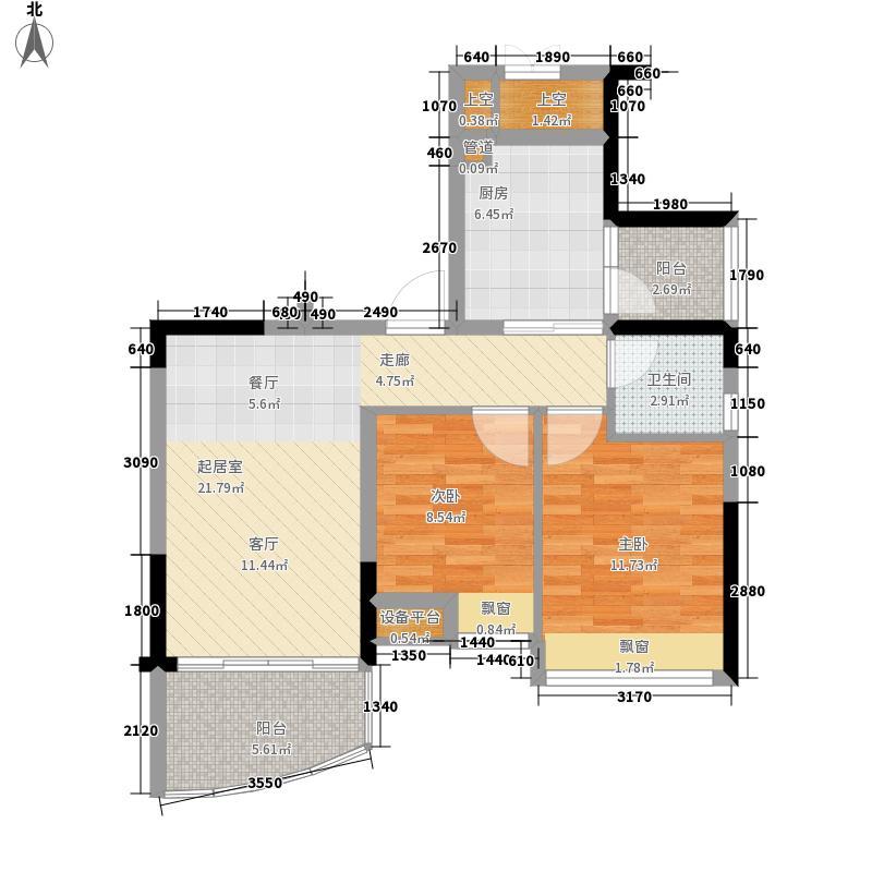 碧桂园椰城65.03㎡G378-2a户型2室2厅