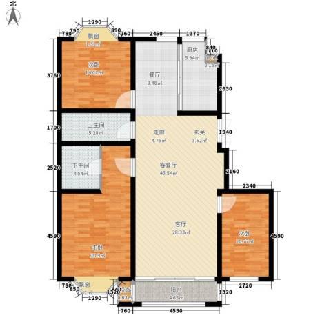 工友城莱茵小镇3室1厅2卫1厨159.00㎡户型图