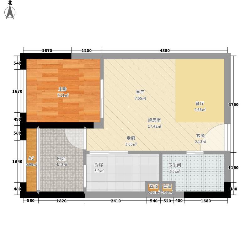 海尔海语江山38.79㎡一期16号楼面积3879m户型