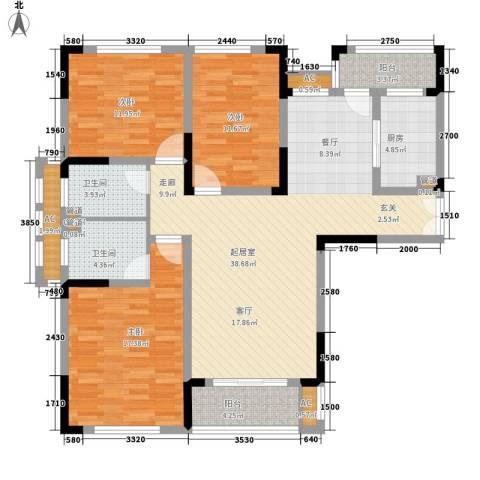 空港国际星城3室0厅2卫1厨129.00㎡户型图