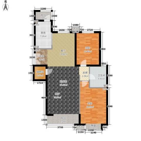 嘉铭桐城2室0厅1卫1厨114.00㎡户型图