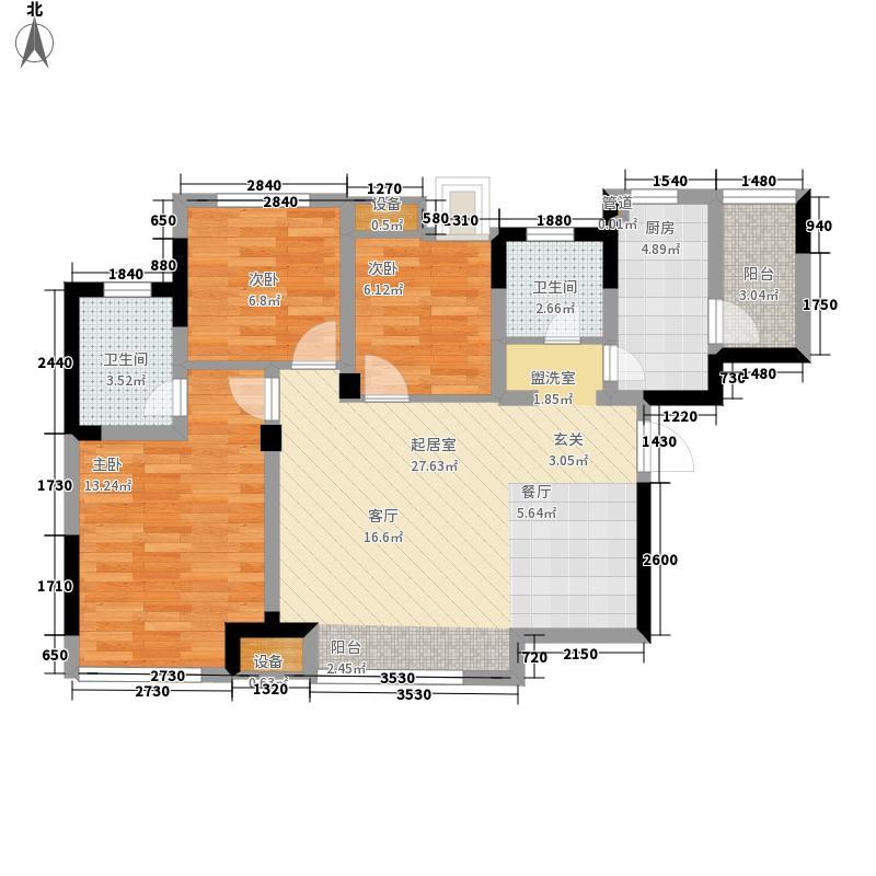 蓝光·COCO蜜园81.00㎡C1户型3室2厅