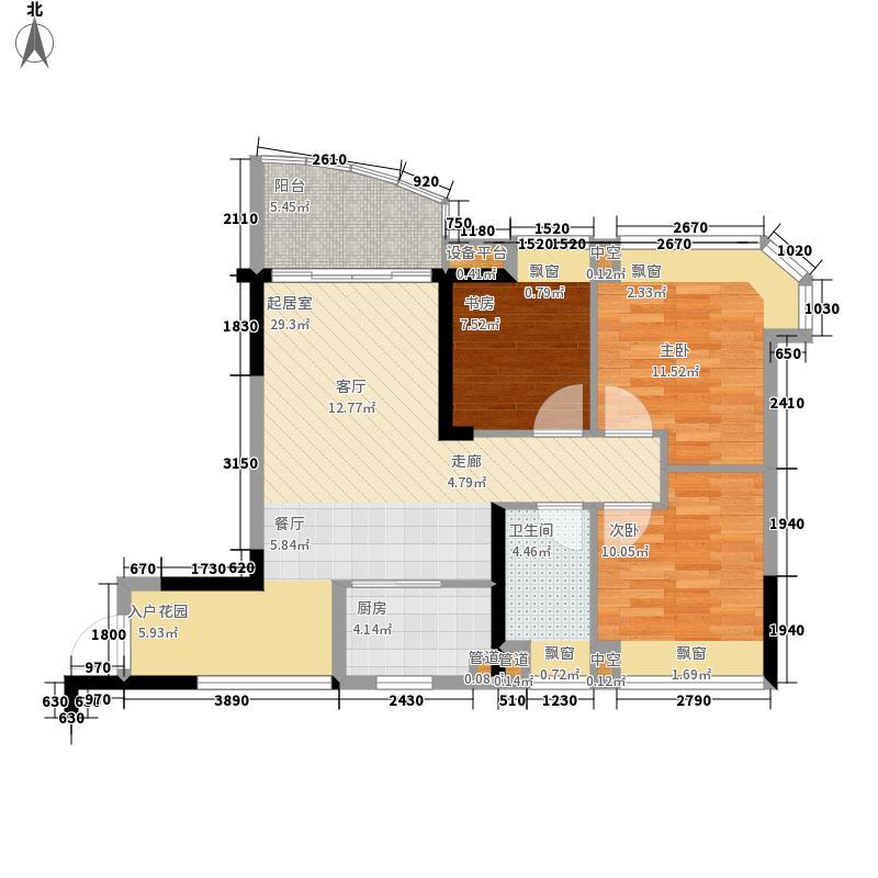 碧桂园椰城74.51㎡G378-4a户型3室2厅