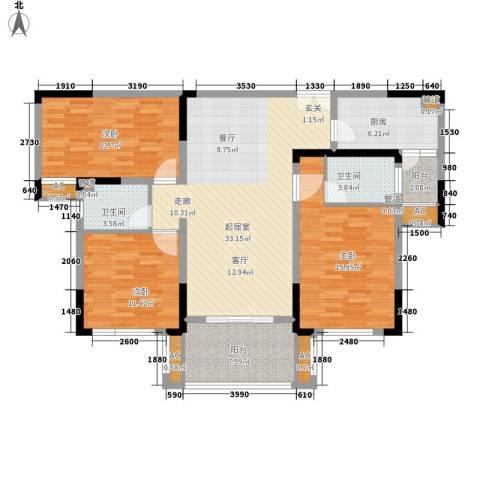 空港国际星城3室0厅2卫1厨122.00㎡户型图