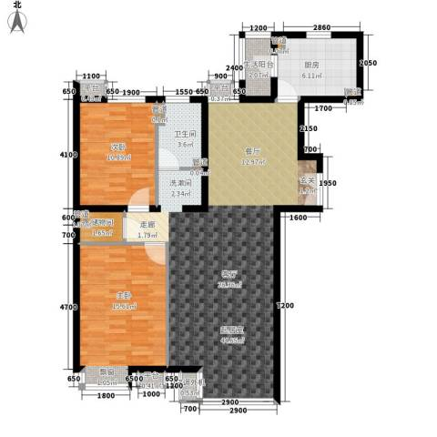 嘉铭桐城2室0厅1卫1厨120.00㎡户型图