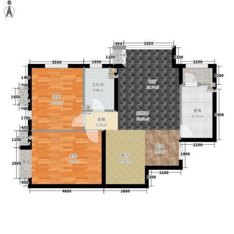 嘉铭桐城2室0厅1卫1厨109.00㎡户型图