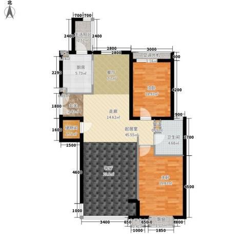 嘉铭桐城2室0厅1卫1厨124.00㎡户型图