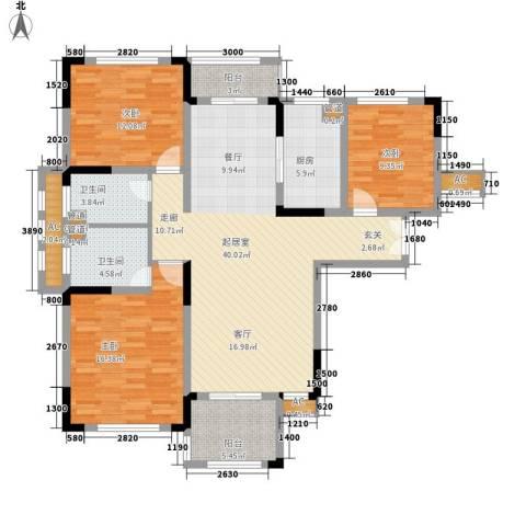 空港国际星城3室0厅2卫1厨128.00㎡户型图