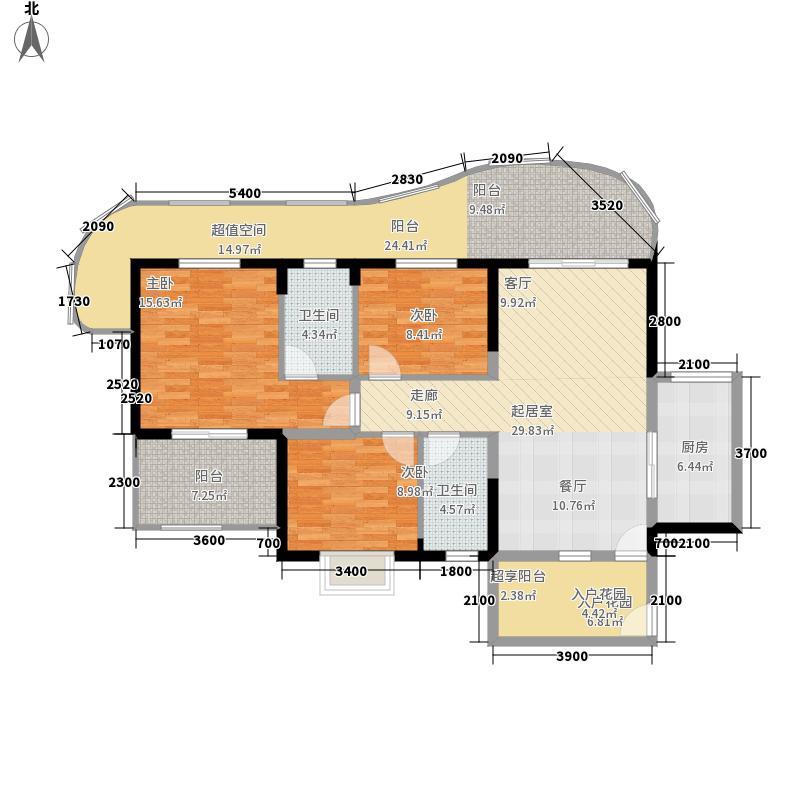绿地海长流117.00㎡F户型3室2厅