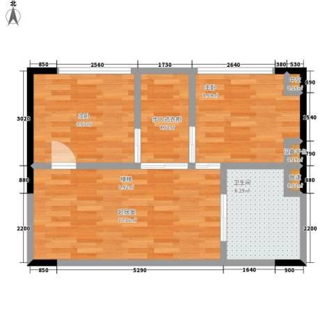 绿地卡米小城2室0厅1卫0厨53.00㎡户型图