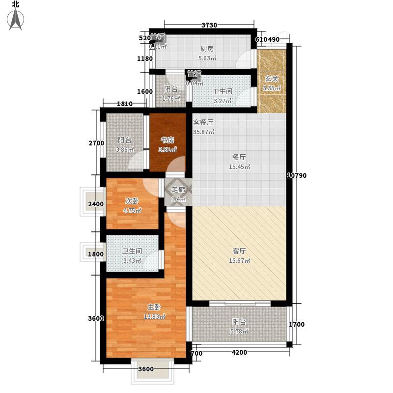 兴港珑湾112.00㎡户型3室2厅