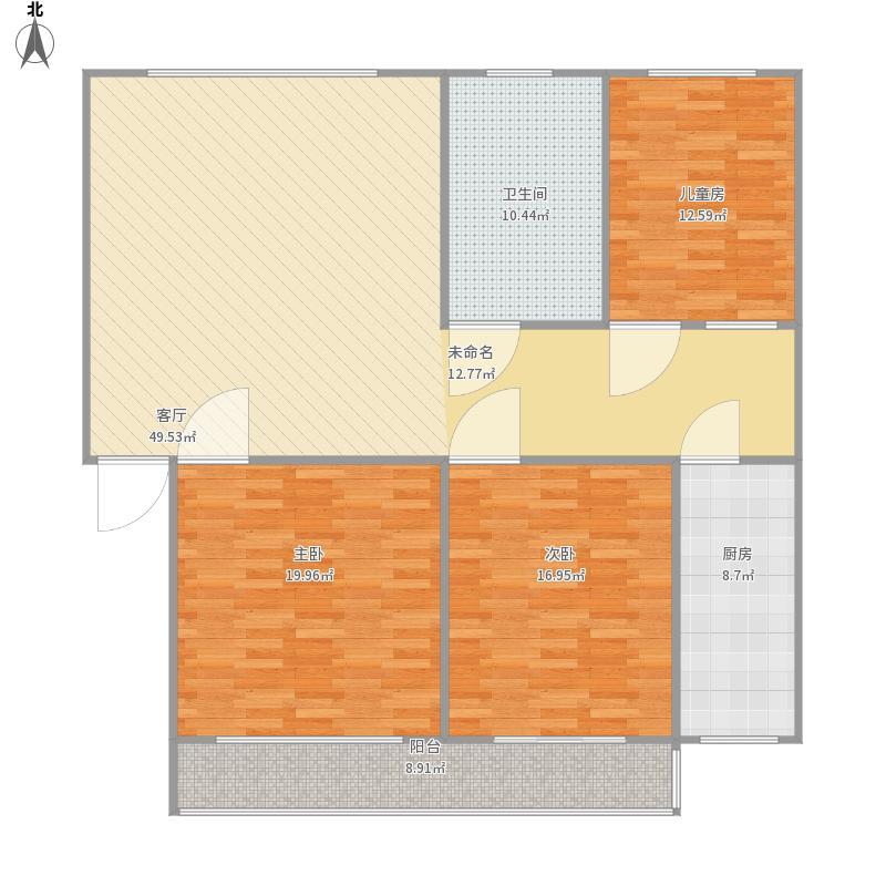 138平方3室2厅一厨一卫