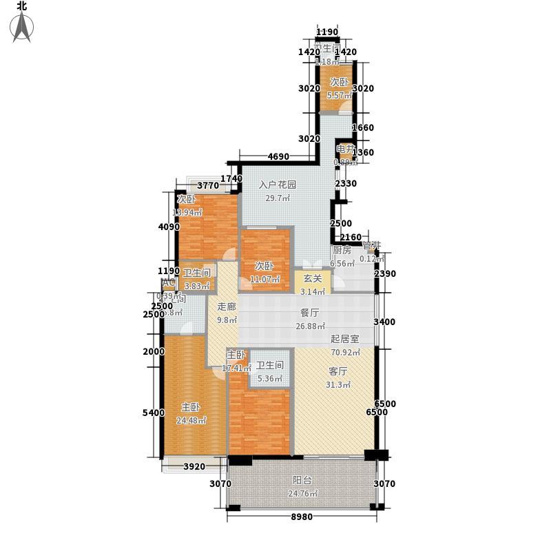 天骄峰景237.00㎡麒麟台户型4室3厅