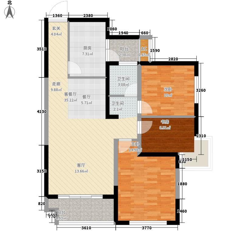 润泽东都二期宽域98.00㎡D户型2室2厅
