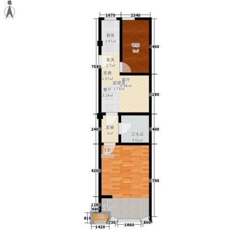 圣日华庭2室0厅1卫0厨65.00㎡户型图