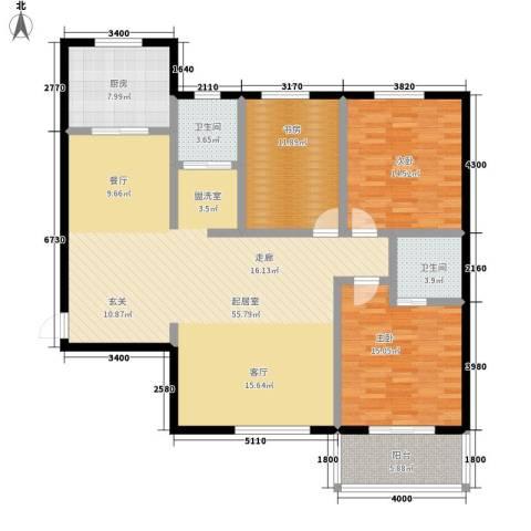 锦绣花园3室0厅2卫1厨135.00㎡户型图