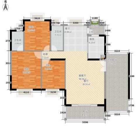 珠光新城御景3室1厅2卫1厨200.00㎡户型图
