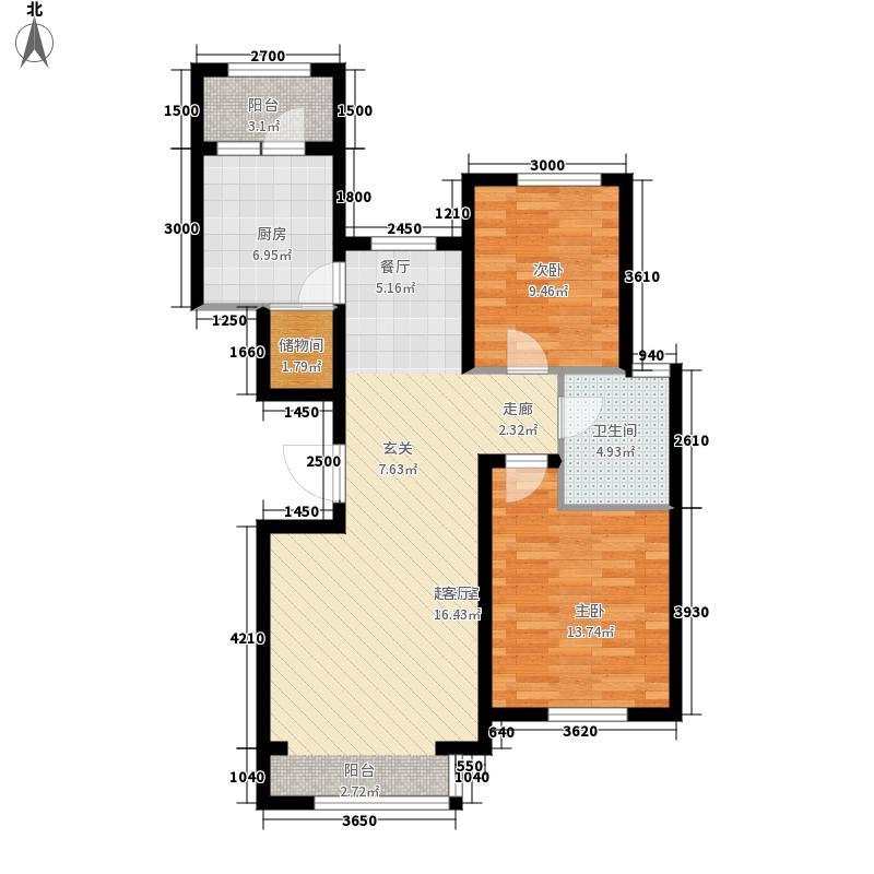 海富御园A户型2室2厅