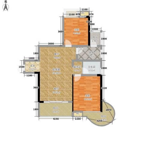 平安摩卡城2室0厅1卫1厨112.00㎡户型图
