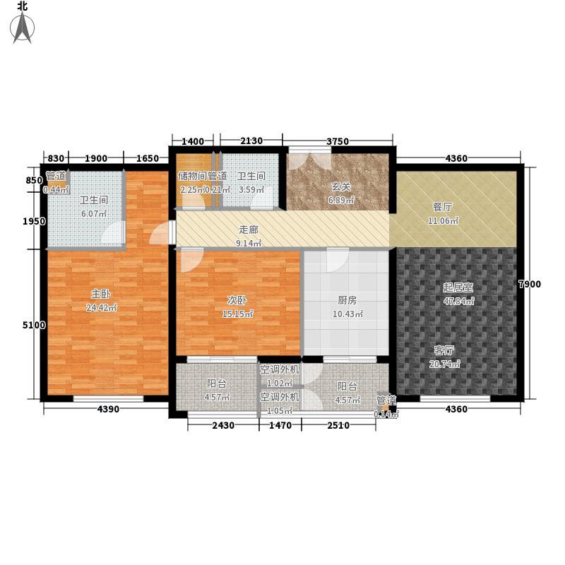 华鼎世家137.00㎡3号楼2单元2号户面积13700m户型