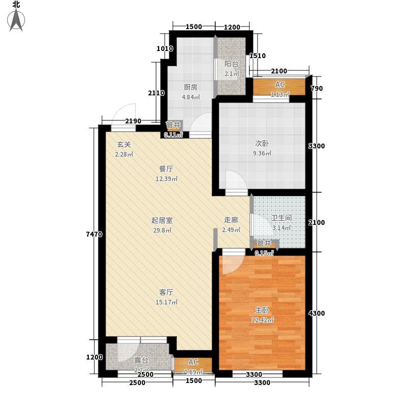 和泓国际92.19㎡A2户型2室2厅