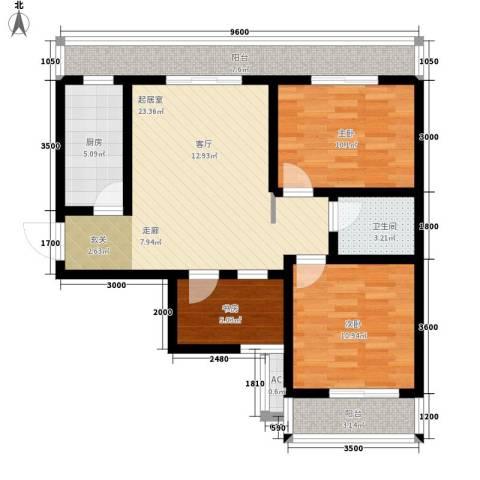 易居・山水豪庭项目3室0厅1卫1厨103.00㎡户型图