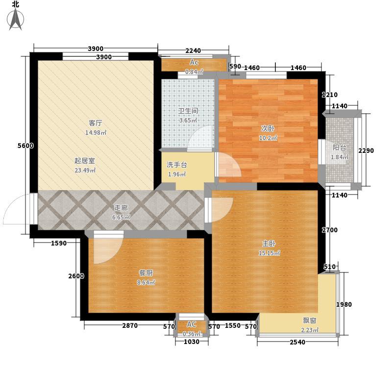 沽上江南89.43㎡20号楼标准层2E&apos户型2室2厅