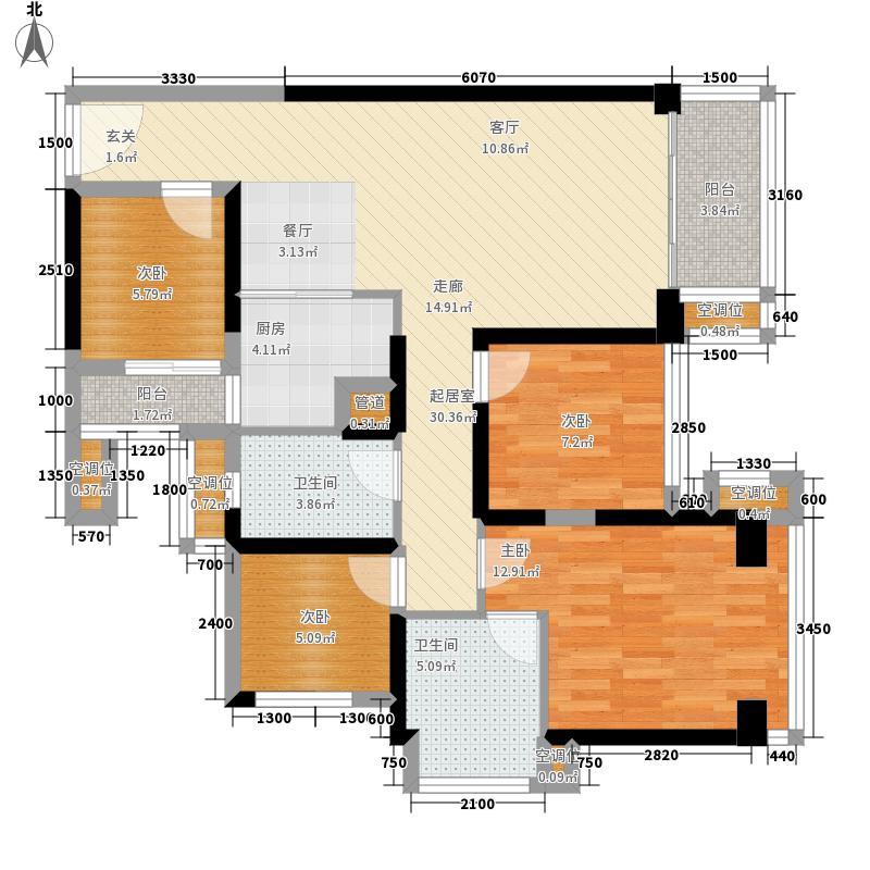星河WORLD银湖谷89.00㎡星河WORLD银湖1栋02谷户型4室2厅