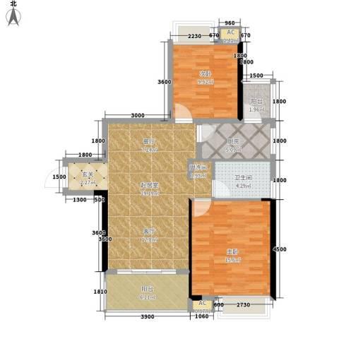 平安摩卡城2室0厅1卫1厨104.00㎡户型图