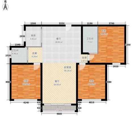 上城uptown3室0厅2卫1厨150.00㎡户型图