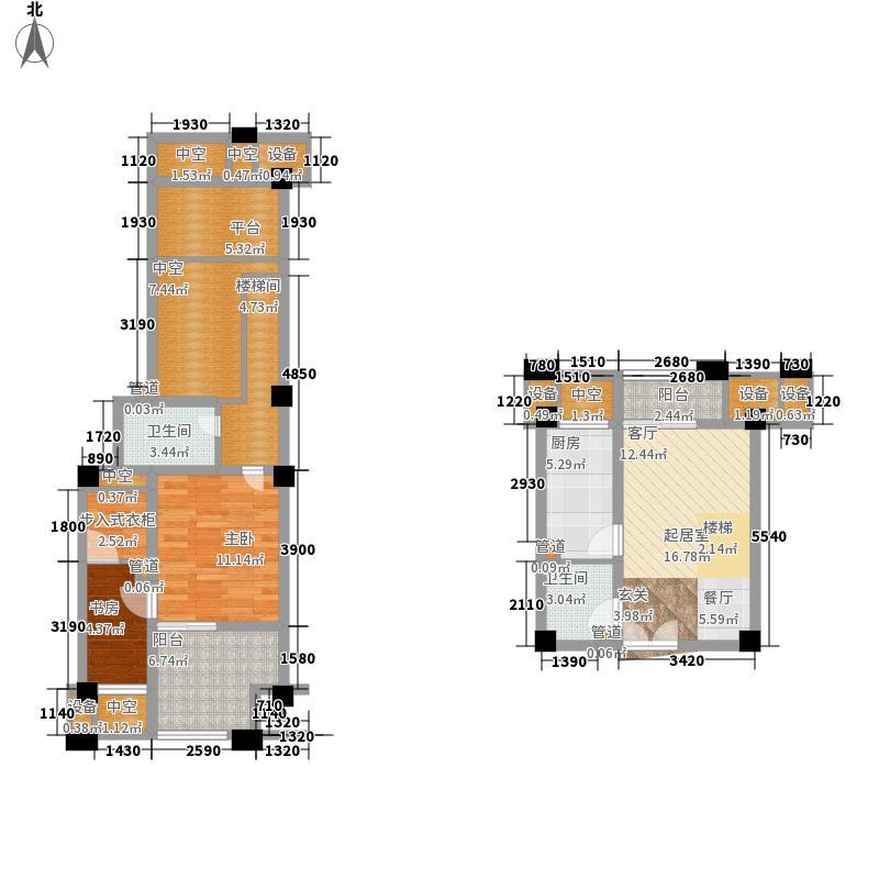 金科visar国际65.39㎡一期3号楼面积6539m户型