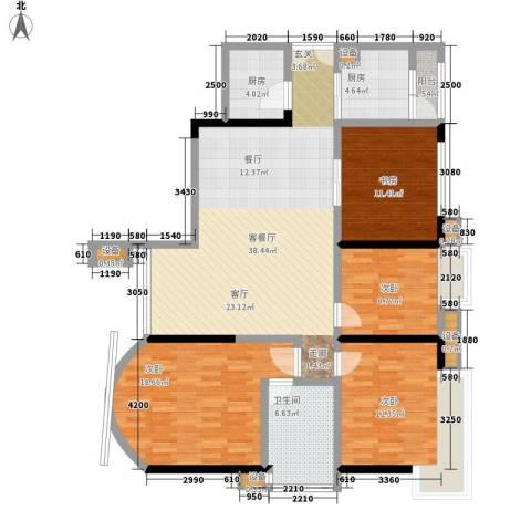 南岭雅舍4室1厅1卫2厨200.00㎡户型图