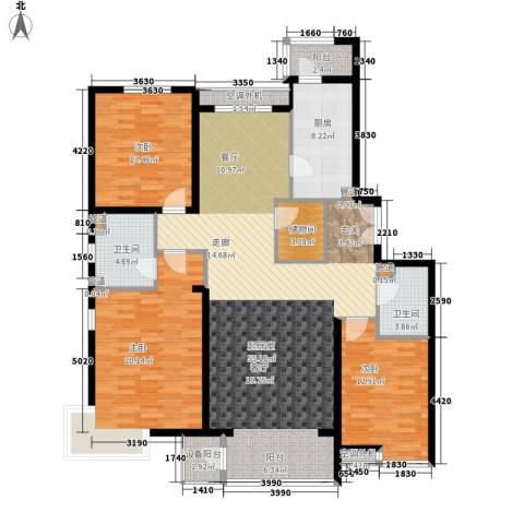 嘉铭桐城3室0厅2卫1厨142.00㎡户型图