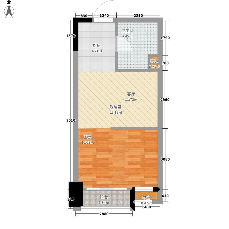 润泽东都二期宽域41.00㎡单身公寓户型1室1厅