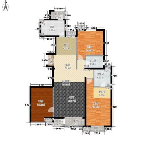 嘉铭桐城3室0厅2卫1厨155.00㎡户型图