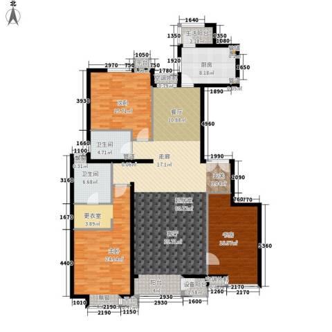 嘉铭桐城3室0厅2卫1厨157.00㎡户型图