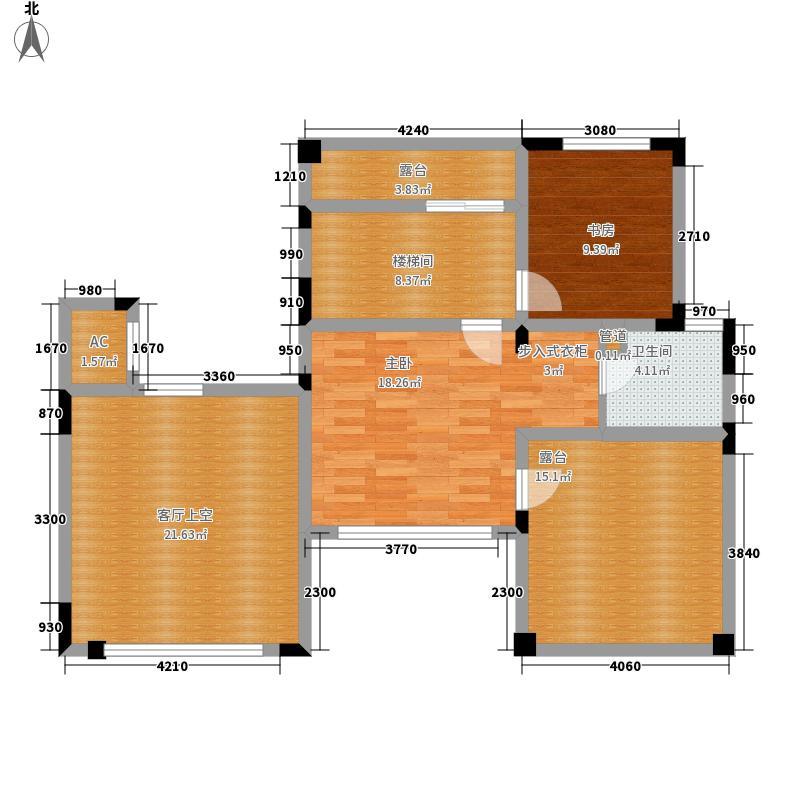 武汉恒大城150.49㎡B3楼WC-2-3上层户型