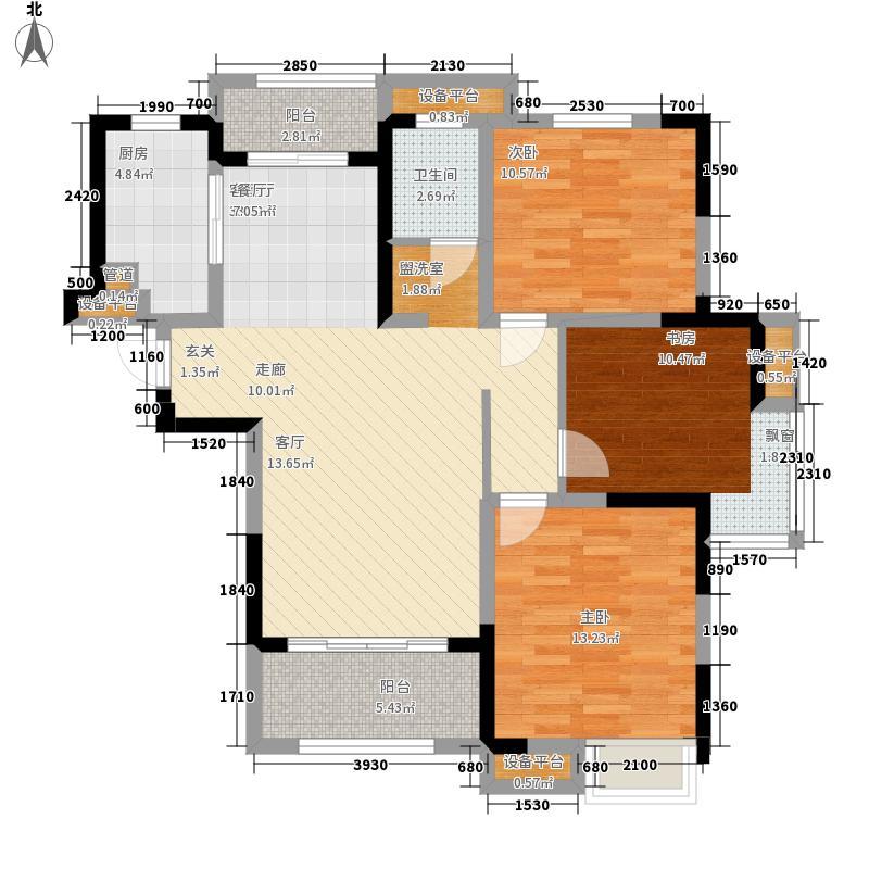 华润橡树湾108.00㎡二期G1户型3室2厅