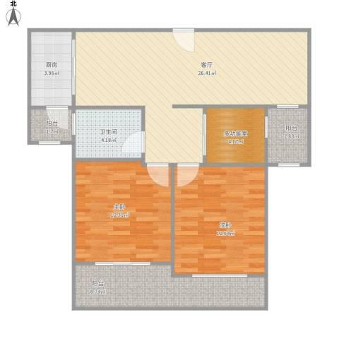 瑞景国际2室1厅1卫1厨105.00㎡户型图